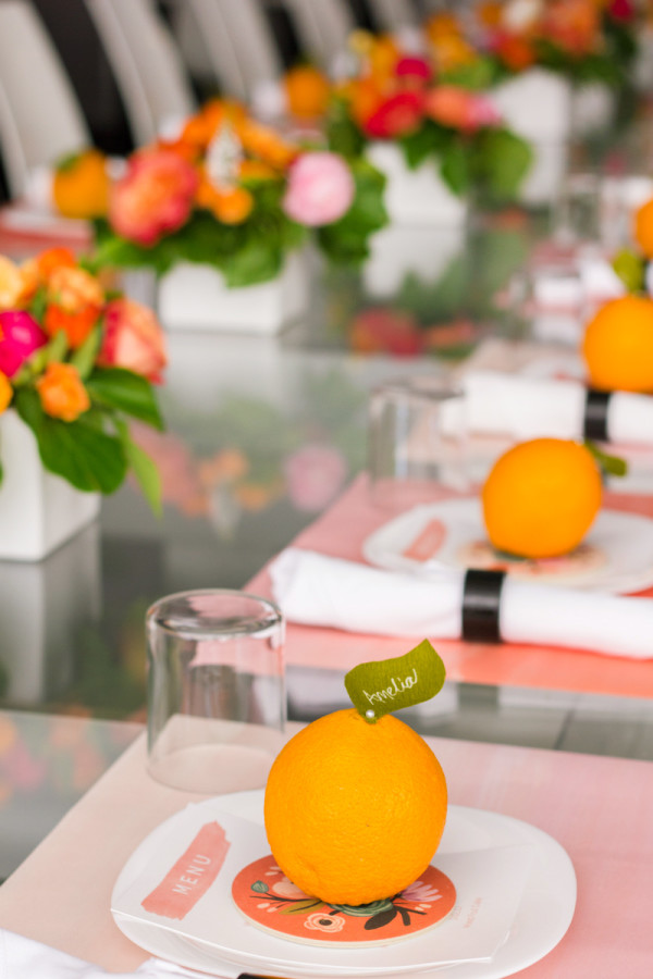 Orange Place Cards