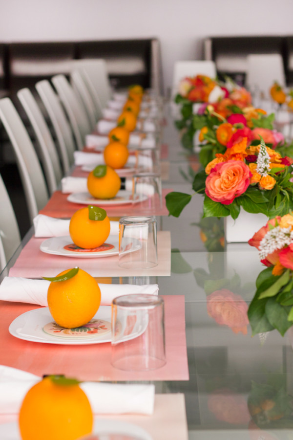 Oranges as Place Cards