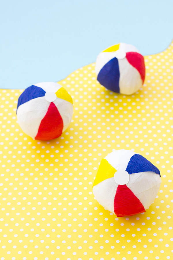 DIY Beach Ball Surprise Balls
