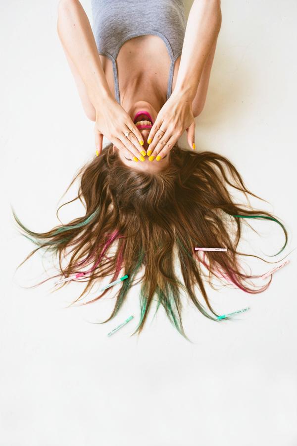 DIY Hair Chalk for Brunettes
