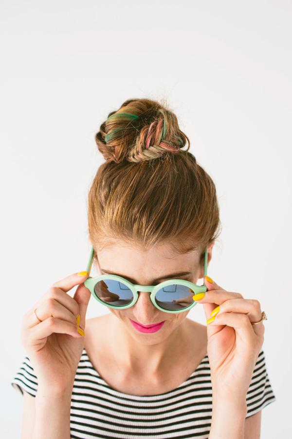 DIY Fishtail Top Knot (+ Hair Chalk!)