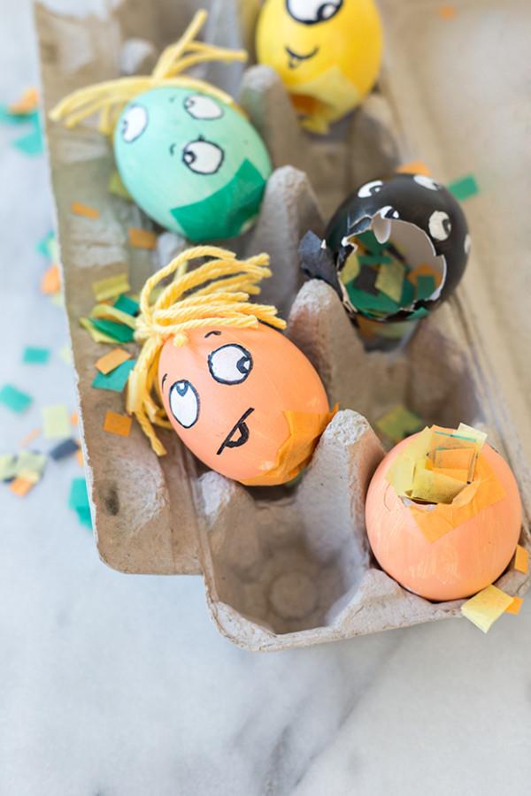 DIY Monster Confetti Eggs
