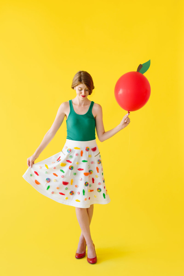 DIY Candy Apple Costume