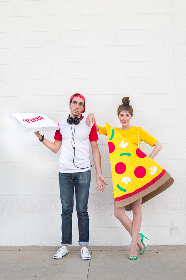 DIY Pizza Slice + Delivery Boy Couples Costume