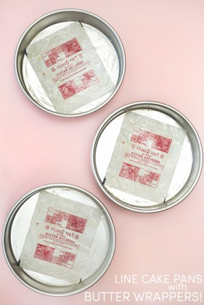 Line Cake Pans with Butter Wrappers!