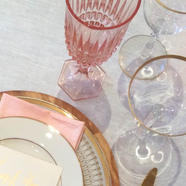Pink and Gold Wedding