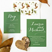Fall Wedding Invitations (+ Free Printable Envelope Liner!)