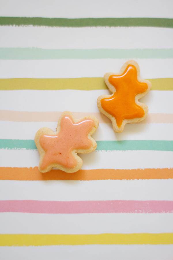 Colorful Leaf Cookies