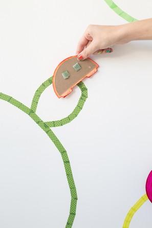 DIY Washi Tape Cactus Wall Art