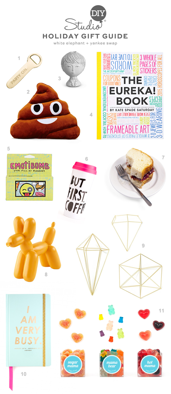 Holiday Gift Guide: Yankee Swap + White Elephant