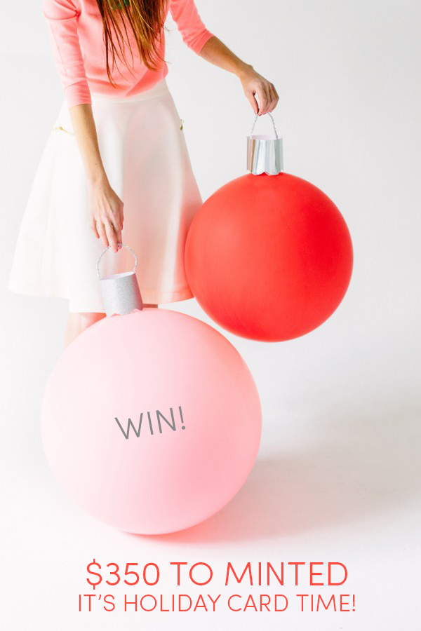 Holiday Giveaway - Win $350 to Minted!