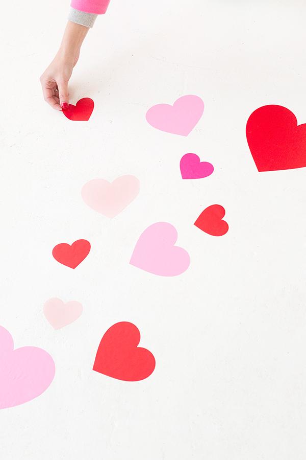 DIY Heart Floor Decals