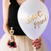 DIY Oscar Party Balloon Awards