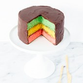 It's Tradition! Italian Rainbow Cookie Cake