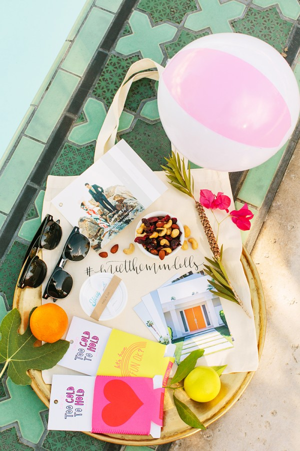 Palm Springs Wedding Welcome Bags