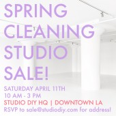 Studio DIY HQ Spring Cleaning Sale!