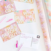 DIY Patterned Postcard Messages