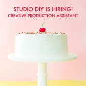 Studio DIY is Hiring – Creative Production Assistant!
