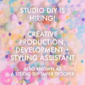 Studio DIY is Hiring: Creative Development + Styling Assistant