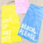 DIY Graphic Beach Towels