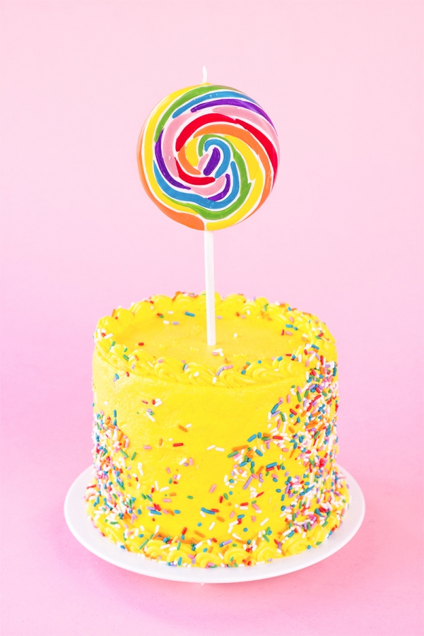 Lolipop (Candle!) Birthday Cake!