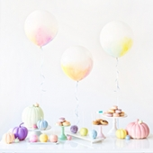 Fall(in') for Baby Shower (+ DIY Watercolor Balloons!)