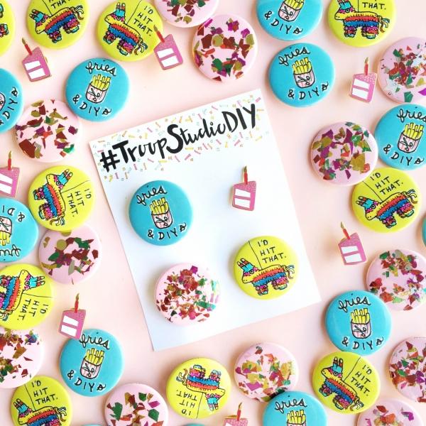 #TroopStudioDIY Pin Packs! | studiodiy.com