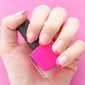 DIY Valentine's Day French Manicure